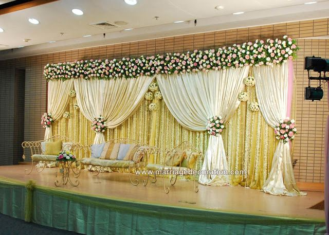 Wedding stage decoration ideas get organised wedding for Background stage decoration