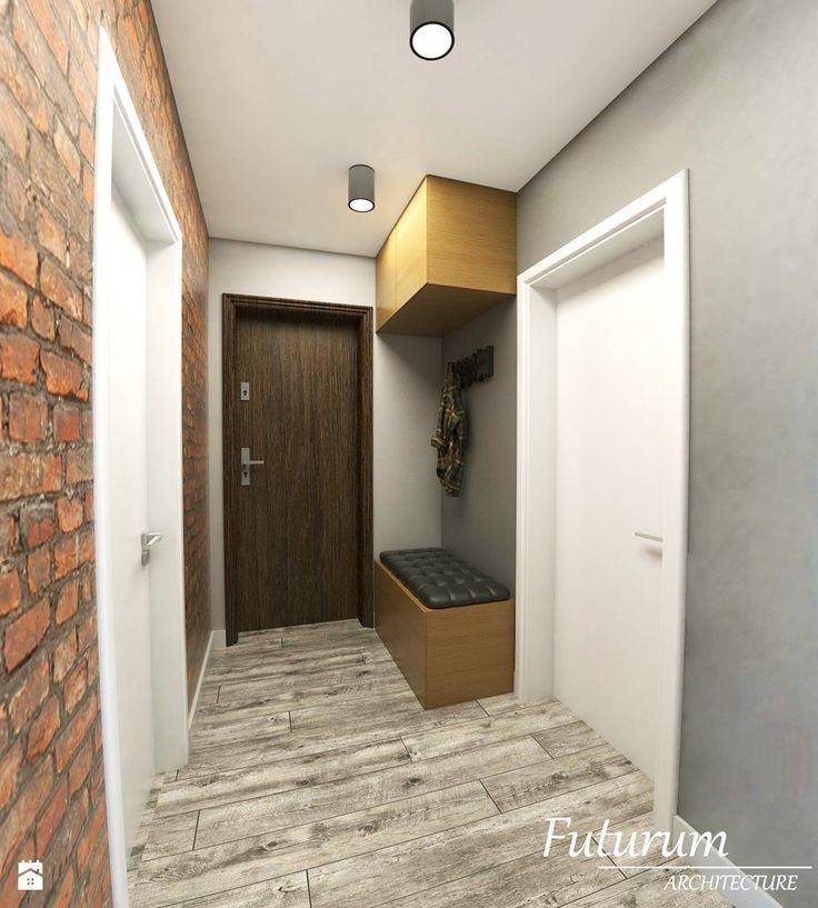 Projekt wnętrza mieszkania, Olkusz - Hol / przedpokój, styl skandynawski - zdjęcie od Futurum Architecture