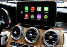 Apple CarPlay - Car electronics - CNET Reviews. Carplay was displayed at the Geneva auto show this week. It promises to greatly enhance entertainment in the car. In the states youll also be able to try it out on Hondas and Hyundais.