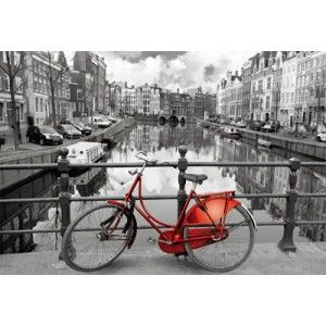 A crisp black and white photo of one of Amsterdam's famous canals from a footbridge. It's all shades of gray save for one red bicycle. Educa puzzles are known around the world for their quality standards, using green & blue boards which create exact piece fits and greatly reduces puzzle dust. As well, every Educa puzzle between 500 and 2000 pieces includes puzzle glue for preserving your success, and a Puzzle Piece Replacement Guarantee through which they replace lost or missing puzzle…