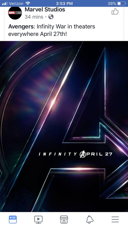 Avengers: Infinity War release date April 27, 2018