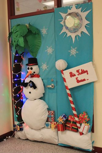 Christmas Classroom Door Decorating Contest | The Downey Legend : Barbeau takes first place in door decorating