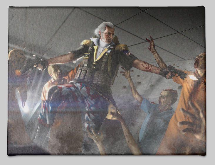 George Washington Fighting Zombies George Washington