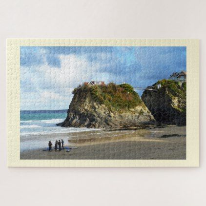 Newquay beach in Cornwall Jigsaw Puzzle - Xmas ChristmasEve Christmas Eve Christmas merry xmas family kids gifts holidays Santa