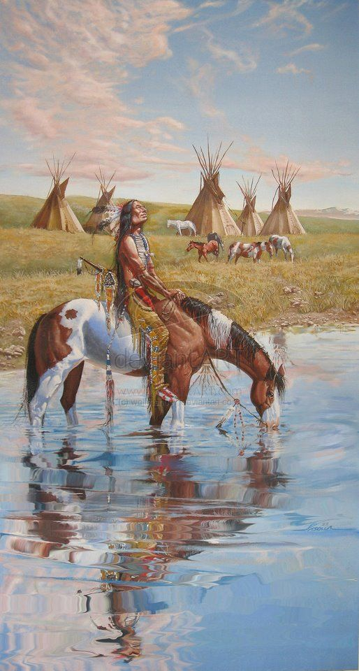 "Native American Art-""tell the story of this picture"" by the Wolfman aka Alexander Vasolla"