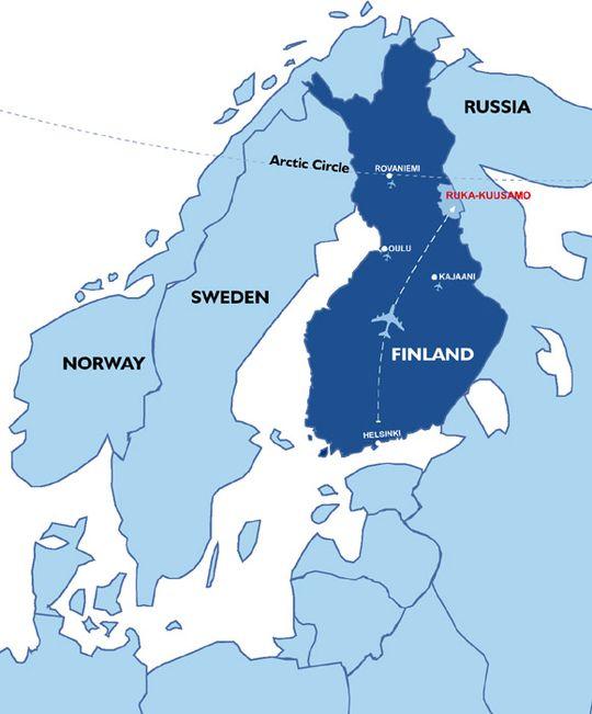 Ruka-Kuusamo kartalla