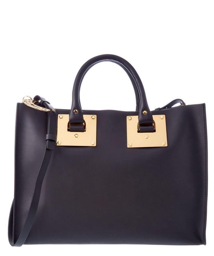 SOPHIE HULME Sophie Hulme Albion Go Bananas East-West Leather Satchel'. #sophiehulme #bags #shoulder bags #hand bags #leather #satchel #lining #