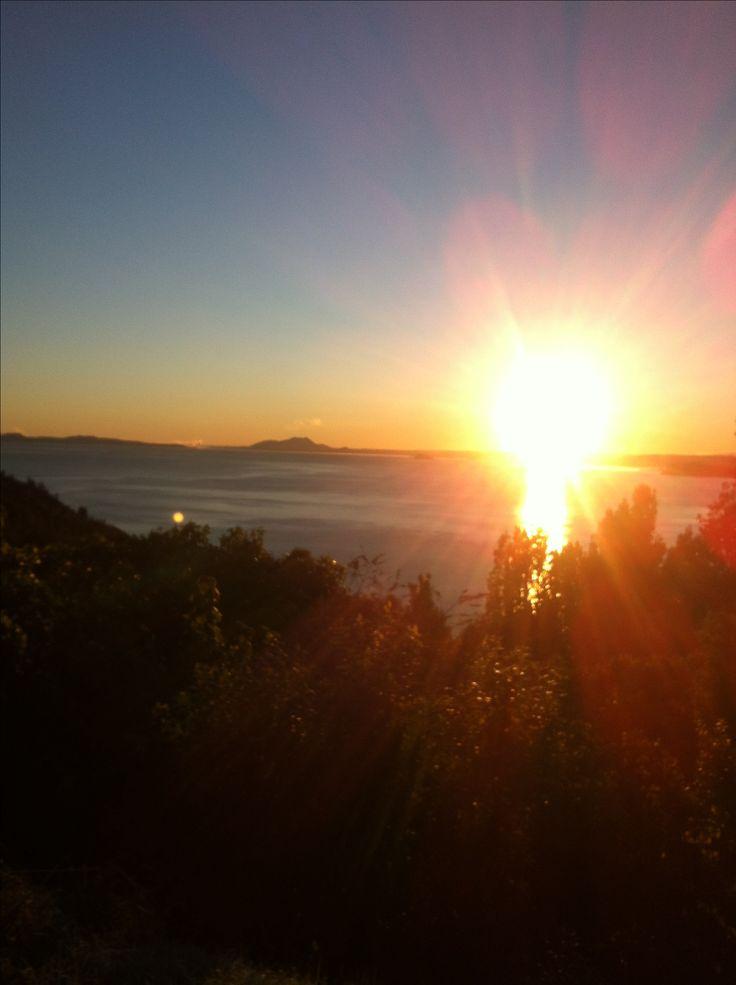 Sunrise by Lake Taupo