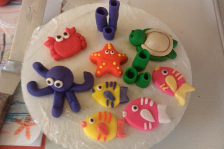 94 best fondant sea creatures images on Pinterest   Cake ...