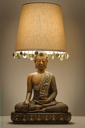 Buddha lamp.