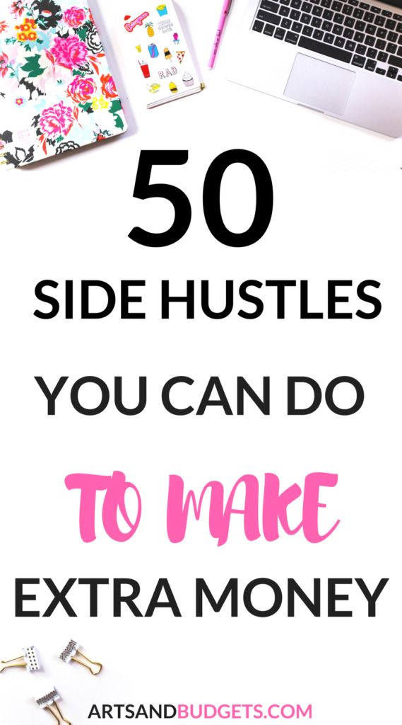 Ultimate list of 50+ Side Hustles Ideas To Make Extra Money – Latasha| Make Money + Budgeting & Saving Tips
