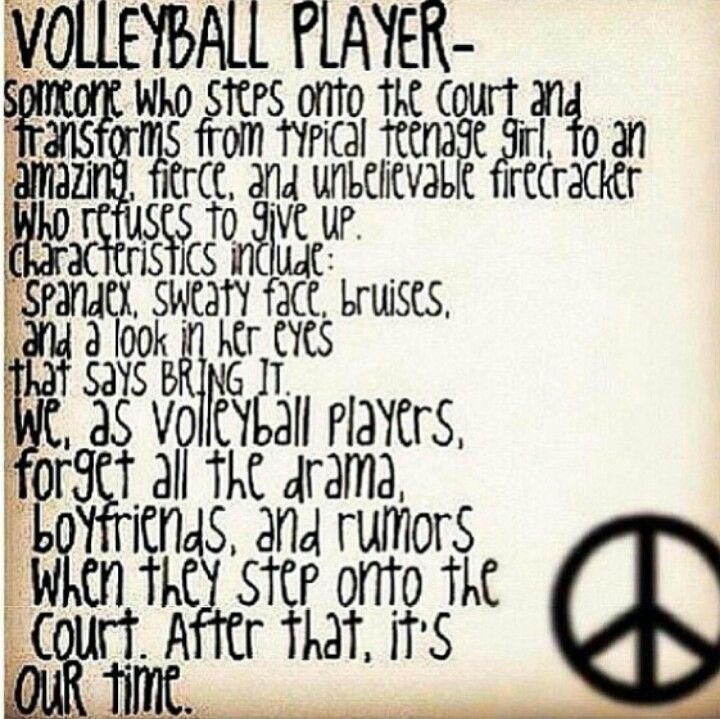 Volleyball Pictures And Quotes: Small Volleyball Quotes Pinterest. QuotesGram