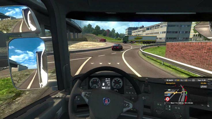 #3 Euro Truck Silmulator 2 driving Scania R440 from uppsala to  Gdansk c...