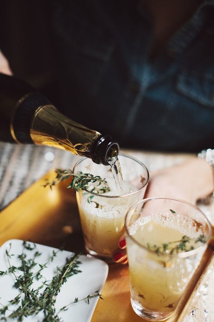 pear nectar & thyme mimosa | glitter guide