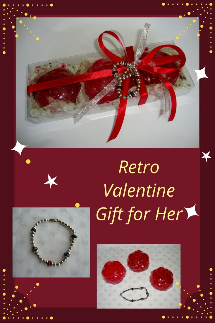 A Creative Valentine's Day Gift Idea for Her. There's something inherently romantic about getting a box, filled with a trio set of deluxe scented spa soaps and a Vintage Italian Sterling Silver 925 Bracelet with Silver Beads as decoration! Elegant gift for your wife, Ideal Gift for your Girlfriend, your Mother, your Daughter, a Friend. For any woman!