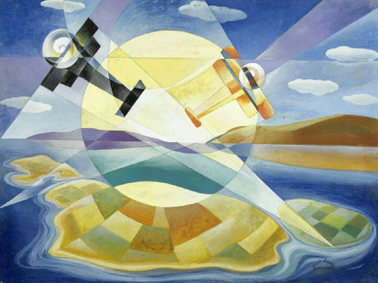 Tullio Crali http://4.bp.blogspot.com/-HnzSRGjs-5I/TdxM_Hb5MhI/AAAAAAAACh8/gu3m9Ae5Fc0/s1600/Giulio-d%2527anna-volo-sulle-eolie-1929.jpg