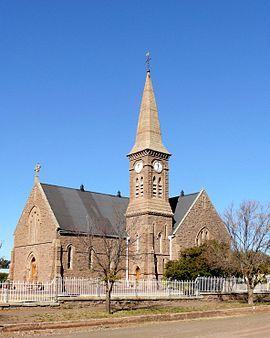 NG gemeente Tarkastad - Die hoeksteen van Tarkastad se NG kerkgebou is op 1 Junie 1877 gelê en die gebou is op 12 Februarie 1880 ingewy.