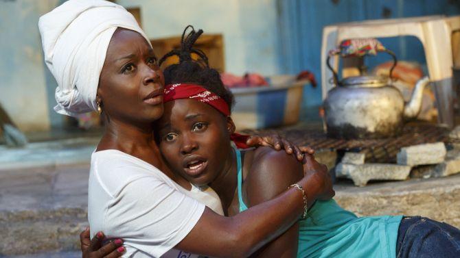 "Playwright Danai Gurira: ""Eclipsed""w Lupita Nyong'o at the Public Theater, NYC   #theater #theatre"