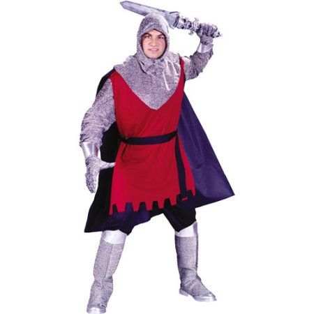 Mens Medieval Knight Costume Camelot Renaissance Warrior Game Thrones Size M-XL