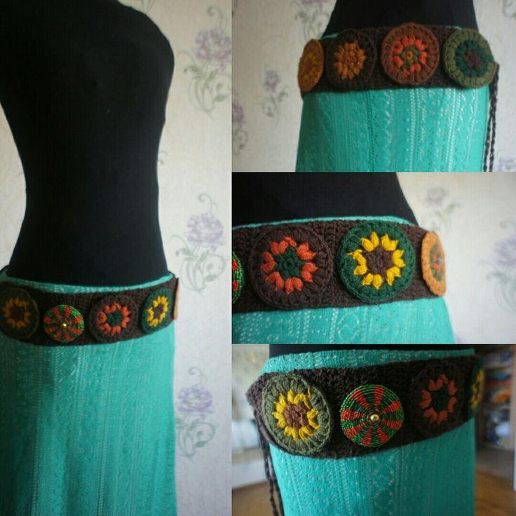 Трайбл пояс Tribal belt Tribal fusion Bellydance Crochet  Ольга Ли Школа фламенко Москва Школа трайбла Москва