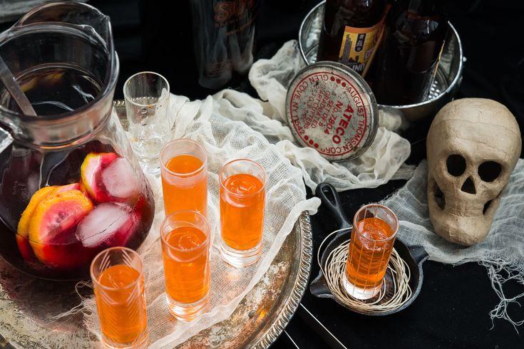 Adult Halloween Drinking Games: bobbing for liquor, etc.