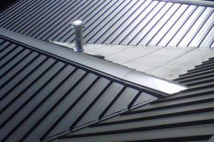 Install or Replace a Metal Roof average cost. Also see http://www.homeadvisor.com/cost/roofing/metal-roof-installation/