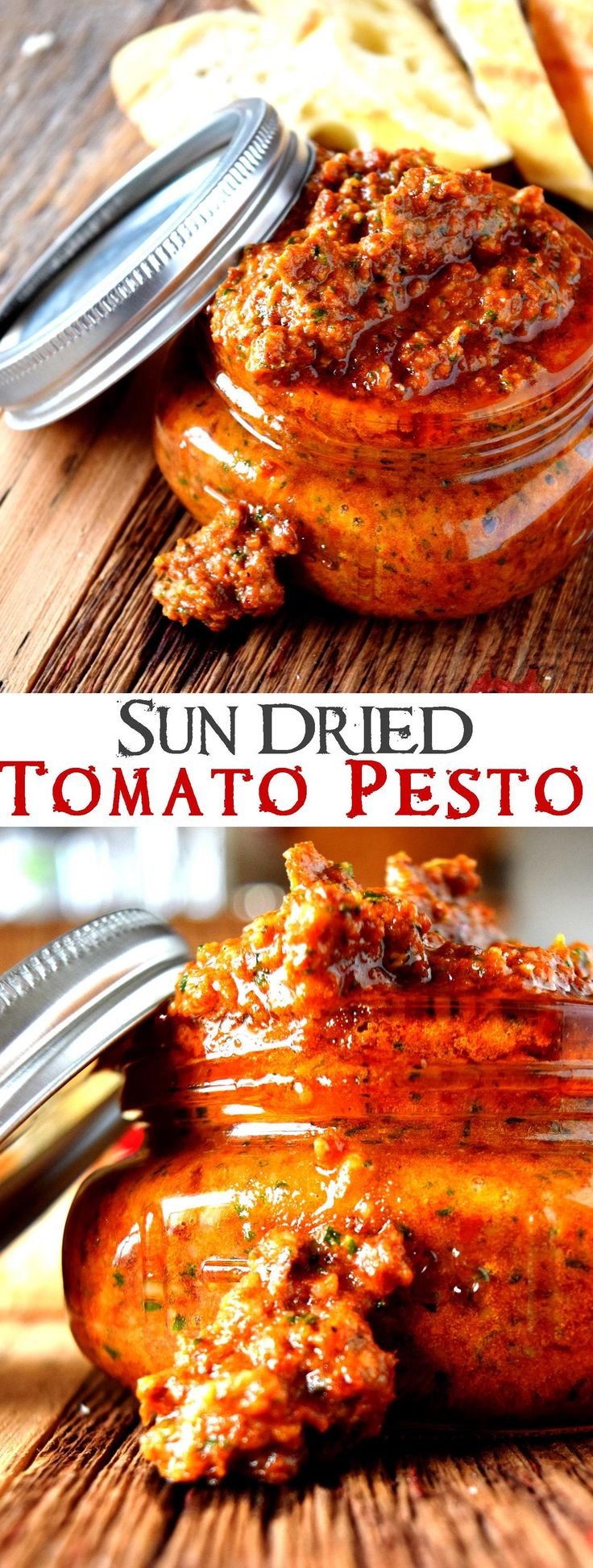 This without the Parmesan or some vegan parm instead would be DELISH! Sun Dried Tomato Pesto