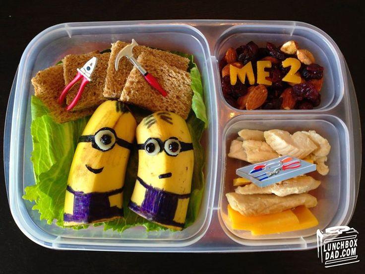 """São almoços criativos para combater a falta de apetite. Beaun Coffron, mais conhecido como o """"pai da lancheira"""", encontrou uma forma criativa de incentivar a filha Abby a levar para a escola almoços saudáveis."""