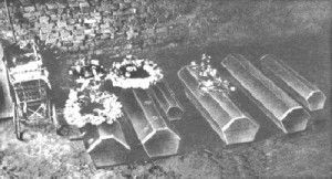 The coffins of the Hinterkaifeck murders