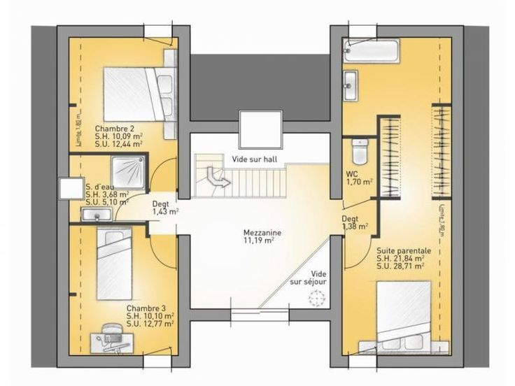 Best 25 plan suite parentale ideas on pinterest suite - Plan maison moderne 5 chambres ...