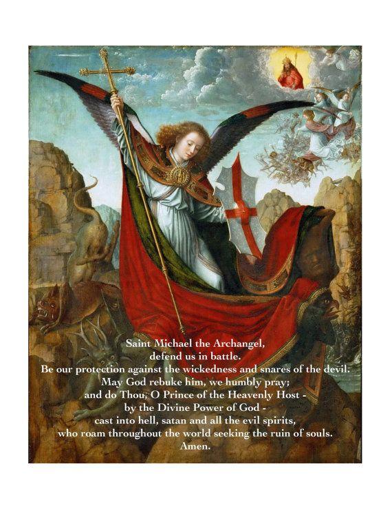 St. Michael the Archangel Prayer Poster by SeattletownStore