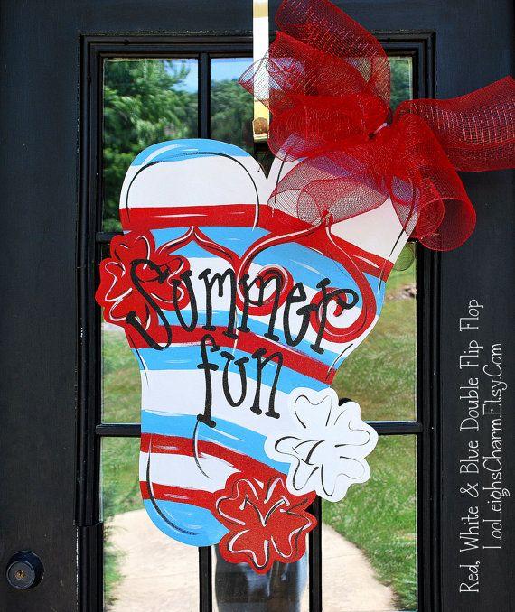 176 Best Burlap Summer Images On Pinterest Burlap Art Burlap Crafts And Wooden Door Hangers