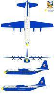 Blue Angels kc-130 Fat Albert by bagera3005