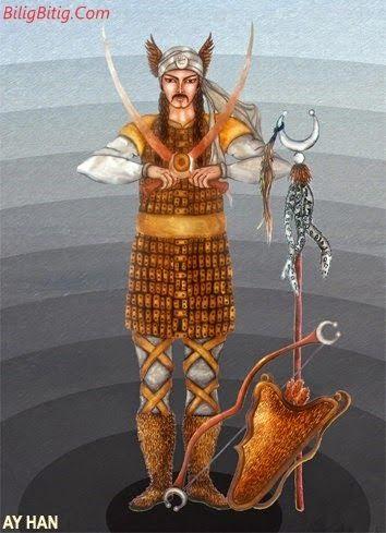 Ay-Han Türk Mitolojisi Karakteri - Türk Asya - Bilig Bitig, Asian Turkish, Тюрки России