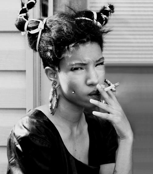 Ntozake Shange playwright, a poet, and feminist.  She wrote the award-winning play 'For Colored Girls Who Have Considered Suicide When the Rainbow Is Enuf' (1975). From 1980s.