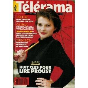 Télérama - n°1990 - 02/03/1988 - Juliette Binoche / L'insoutenable légèreté de l'être d'après Kundera [magazine mis en vente par Presse-Mémoire]