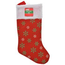 Bulk Christmas House Glitzy Snowflake Stockings, 17 in. at DollarTree.com