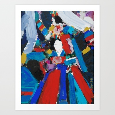Spirit Dancer Art Print by Joonghi - $38.00