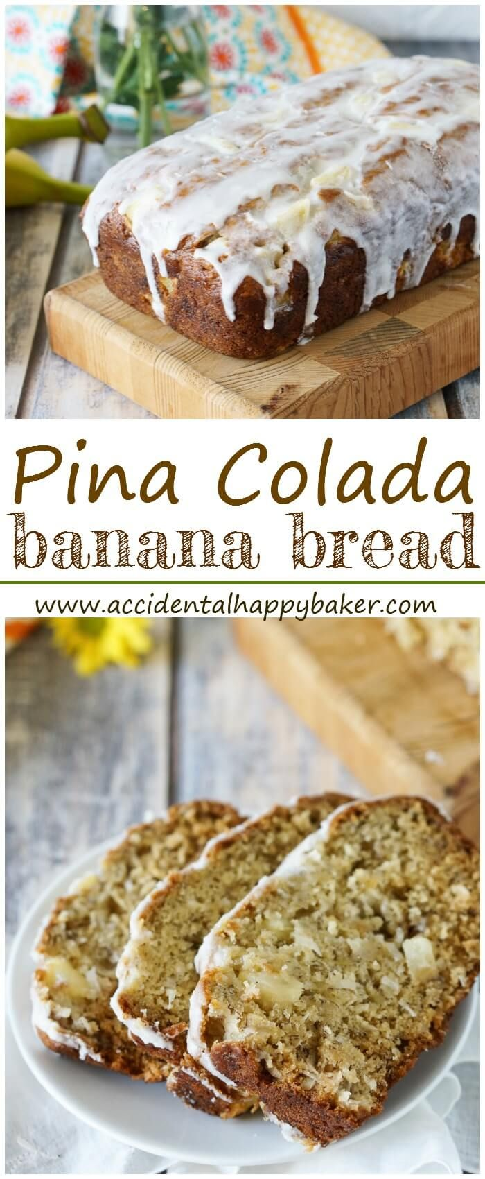 Pina colada banana bread is a tropical indulgence studded with pineapple, coconut, and a hint of rum, it has all your favorite pina colada flavors. BobsSpringBaking AD @BobsRedMill