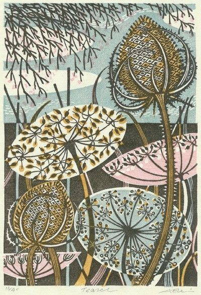 "Angie Lewin print ""Teasel"" by ida"