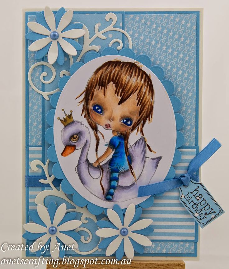 Anet's Crafting Blog: Swan Girl