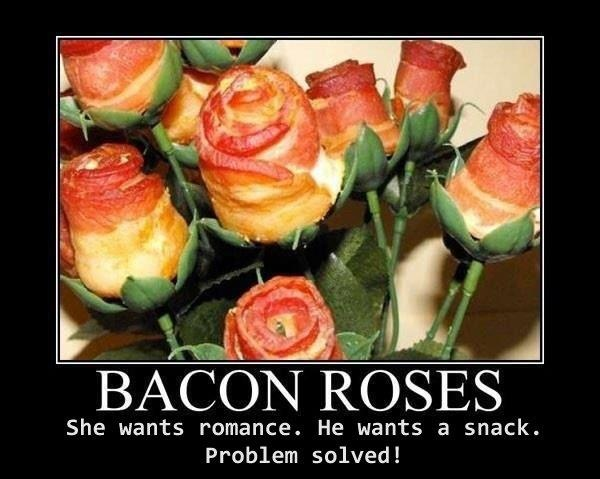 Bacon Roses your next boyfriend will know to get these for you @Carley Eggleston. haha