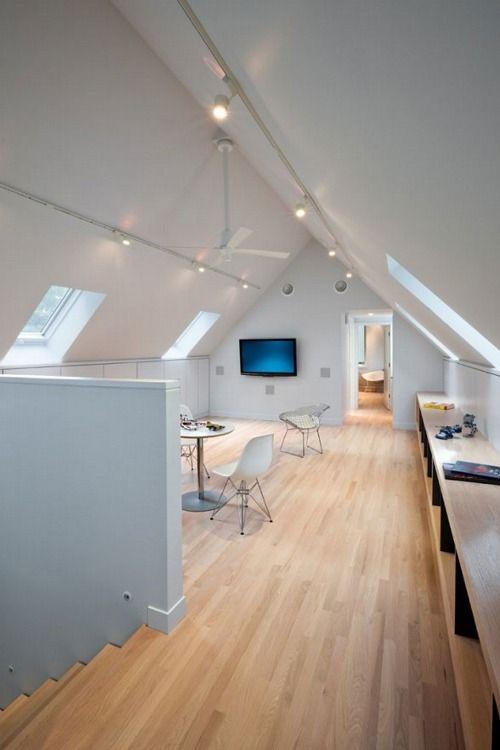 8 besten dachgeschoss beleuchtung bilder auf pinterest dachgeschosse dachausbau und dachboden. Black Bedroom Furniture Sets. Home Design Ideas