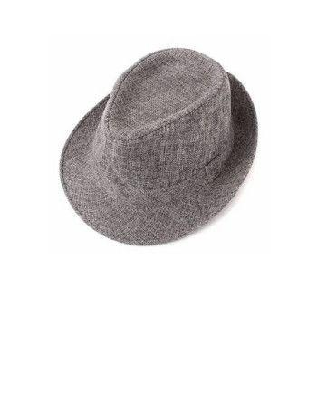 klassisk Fedora hatt svart, grå, bomull