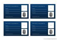 Detektiv Zubehör und Deko selbst basteln: Ausweis-Vorlage zum Ausdrucken