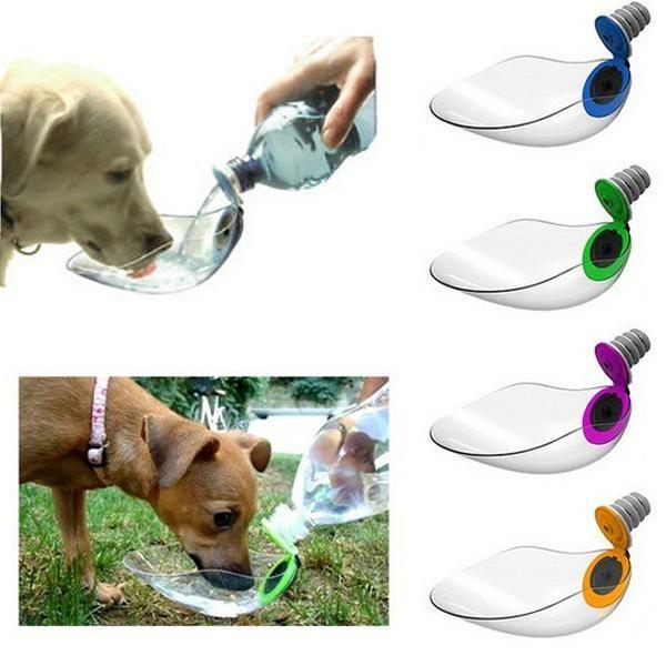 BeviQui™, es el revolucionario recipiente para beber para perros que están de paseo o de viaje con su dueño, es un alimentador de líquidos, con adaptador universal, de bolsillo y transparente.