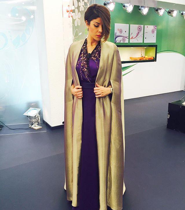 Le style ,le raffinement et la création avec @sihamsarachraibi sur  Sabahiyates 2M à 11h 😍😍😍 #leilahadioui #love#caftan #dress#morning #morocco