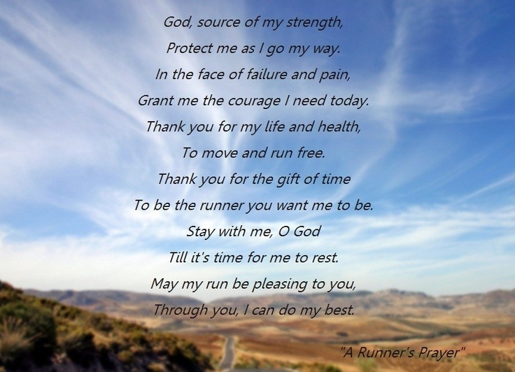 A Runners Prayer