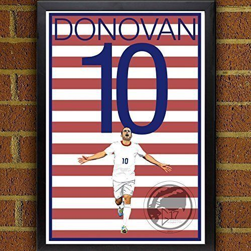 Landon Donovan United States Men's National Team Poster. USMNT's Landon Donovan Art Poster. Donovan Artwork Sizes Available: 8.5x11 inches 13x19 inches Poster printed on 100% acid-free premium archival fine art paper. The image comes with 1/2 inch white border border all around for easy framing. All items are shipping in rigid mailing tube to ensure it arrives in good condition.
