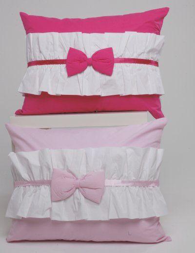 Standard Sham Hot Pink & White Bow